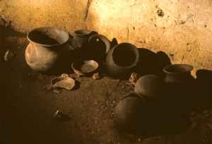 1,000 year old Myan storage pots in a cave in Belize